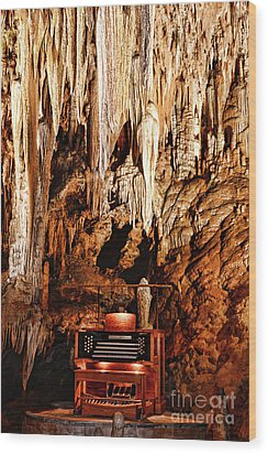 The Organ In The Cavern Wood Print by Paul Ward