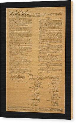 The Original United States Constitution Wood Print
