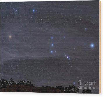The Orion Constellation Rises Wood Print by John Davis