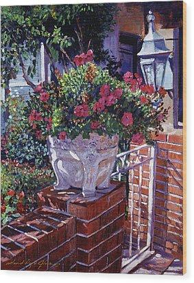 The Ornamental Floral Gate Wood Print by David Lloyd Glover