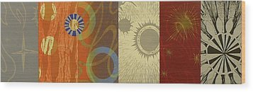 The Other Side Of The Sky Series I  2 Wood Print by David Jansheski