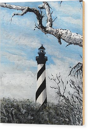 The Other View Of Hatteras Wood Print by Jim Phillips