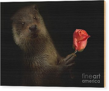 Wood Print featuring the photograph The Otter by Christine Sponchia