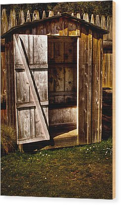 The Outhouse At Fort Nisqually Wood Print by David Patterson