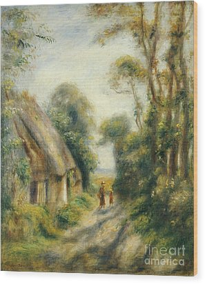 The Outskirts Of Berneval  Wood Print by Pierre Auguste Renoir