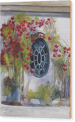 The Oval Window Wood Print by Sibby S
