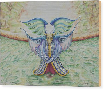 The Ox Wood Print by Rick Ahlvers