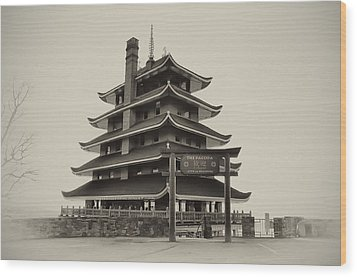 The Pagoda - Reading Pa. Wood Print by Bill Cannon