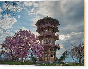 The Pagoda In Spring Wood Print