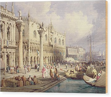 The Palaces Of Venice Wood Print by Samuel Prout