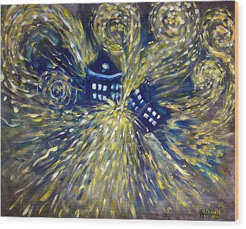 The Pandorica Opens Wood Print by Alizey Khan