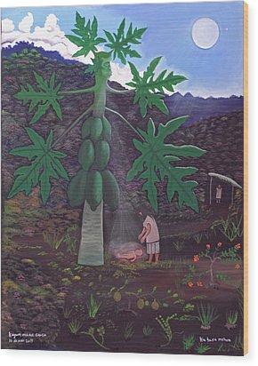 The Papaya Nourishes Life Wood Print