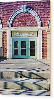 Wood Print featuring the photograph The Paramount Theatre by Colleen Kammerer
