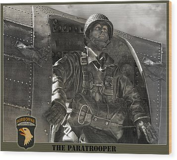 The Paratrooper Wood Print