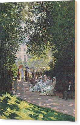 The Parc Monceau Wood Print by Claude Monet