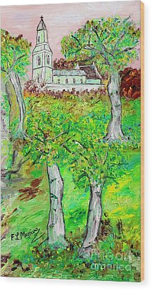 The Parish Curch Wood Print by Loredana Messina