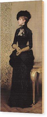 The Parisian Wood Print by Charles Giron