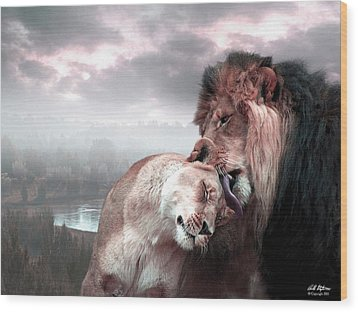 The Passion Wood Print by Bill Stephens