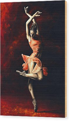 The Passion Of Dance Wood Print by Richard Young