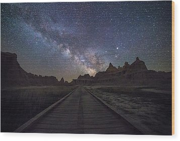 Wood Print featuring the photograph The Path by Aaron J Groen