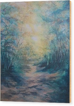 The Path Wood Print by Becky Chappell