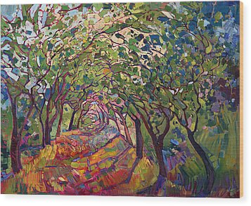 The Path Wood Print by Erin Hanson