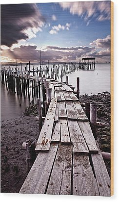 Wood Print featuring the photograph The Path by Jorge Maia