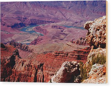 The Path Of The Colorado River Wood Print by Susanne Van Hulst