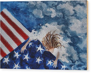 The Patriot Returns Home Wood Print by Mary Sonya  Conti