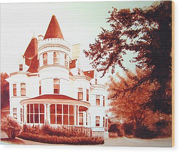 The Patton House Wood Print by Scott Robinson