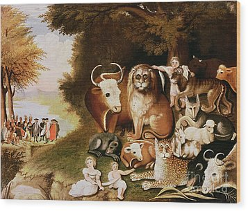 The Peaceable Kingdom Wood Print