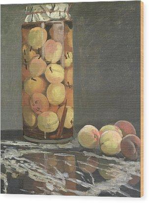 The Peach Glass Wood Print by Claude Monet