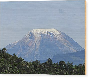 Wood Print featuring the photograph The Peak by Blair Wainman