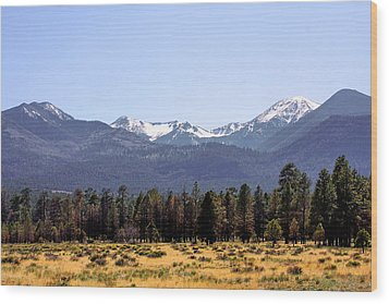 The Peaks - Where Earth Meets Heaven Wood Print by Christine Till