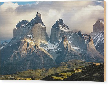 The Peaks At Sunrise Wood Print by Andrew Matwijec