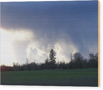 The Pending Storm Wood Print by Laurie Kidd