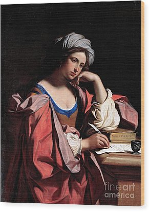 Wood Print featuring the painting The Persian Sibyl by Pg Reproductions