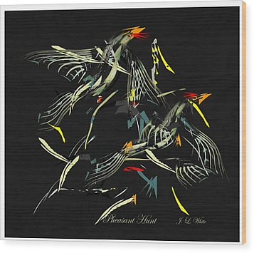 The Pheasant Hunt Wood Print by Jerry White