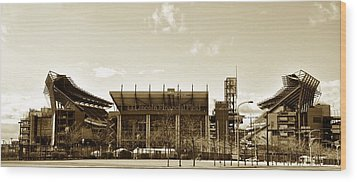 The Philadelphia Eagles - Lincoln Financial Field Wood Print by Bill Cannon