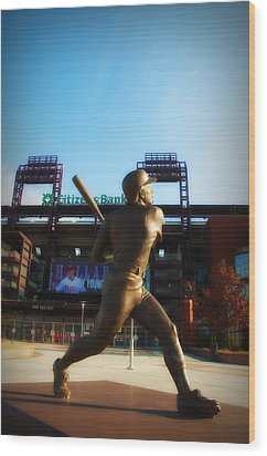 The Phillies - Mike Schmidt Wood Print by Bill Cannon