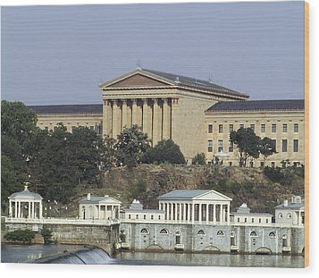 The Philly Art Museum And Waterworks Wood Print by Bill Cannon