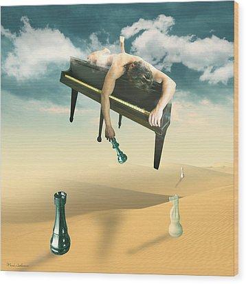 The Pianist  Wood Print by Mark Ashkenazi
