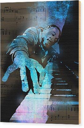 The Piano Man Wood Print by Paul Sachtleben