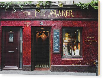 The Pie Maker Wood Print by Lexa Harpell