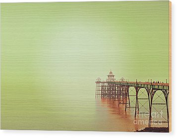 Wood Print featuring the photograph The Pier 2 by Colin and Linda McKie