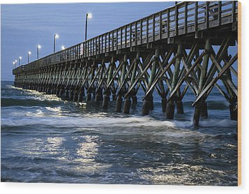 The Pier At The Break Of Dawn Wood Print