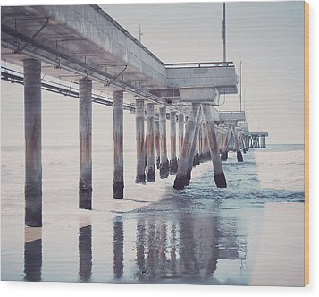 The Pier Wood Print by Nastasia Cook
