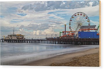 The Pier On A Cloudy Day Wood Print