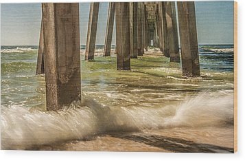 The Pier Wood Print by Phillip Burrow