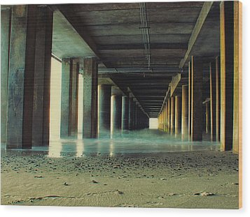 The Pier Wood Print